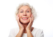 Happy senior woman close up