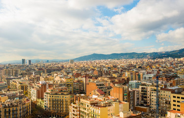 view of barcelona from sagrada familia © serhii