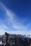 Panorama delle montagne alpine delle dolomiti con cielo e nuvole © Sandro