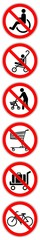 ssne21 SafetySignNewEscalator ssne - german - Rollstuhl, Kinderwagen, Gehhilfe, Rollator, Einkaufswagen, Kofferwagen verboten - Rolltreppe - english - (escalator) xxl 1zu6 g6883 © fotohansel