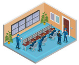 Security Systems Isometric Composition  - 239894160