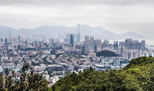 obraz lub plakat Hong Kong China Lion Rock Panorama