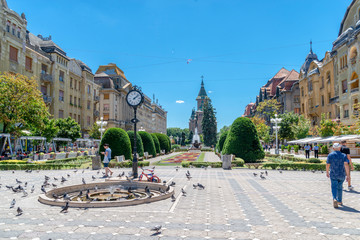 beautiful city in Romania - Timisoara  © anilah