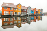 colorful houses in holland