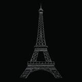 This is a vector image of the  tower in Paris.