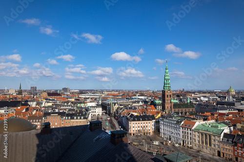 view from christiansborg palace, copenhagen, denmark