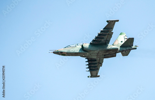 obraz PCV Military plane flies in the air.