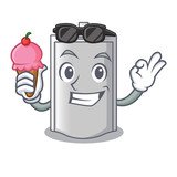With ice cream bag packaging snack on a mascot