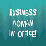 Writing note showing Business Woanalysis In Office. Business photo showcasing Female power Feminine empowerment Leader women ZigZag Spiked Design MultiColor Blank Copy Space for Poster Ads