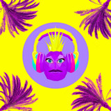 3d render Funny DJ pineapple. Contemporary minimal art collage. Beach party concept - 239971123