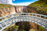 Canyon lookout bridge in Toro Toro National Park Bolivia
