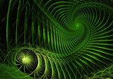abstract fractal background, texture, bokeh, fractal spiral