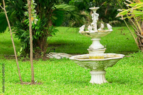 Old Cupids fountain in the park