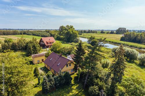 obraz PCV Przemyslaw Szkarpawa River Aerial