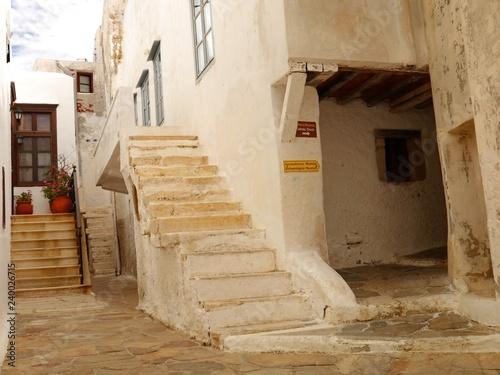 Streets of Ancient Town Naxos, Naxos Island, Greece