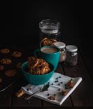 desayuno/merienda Galletas con chispas de chocolate y cafe