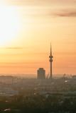 Sunset Munich Olympiatower