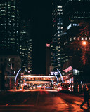 Edmonton city streets at night