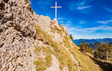 View to Grauer Stein Peak in Allgauer Alps in Germany - 240047955