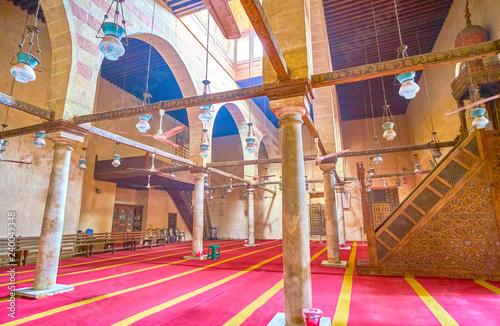 The stone interior of Mosque of Shaykh Ali AL-Mutahhari in Cairo, Egypt
