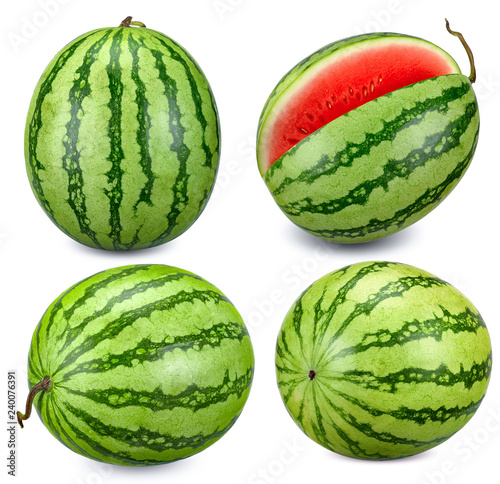 Collection Watermelon isolated with clipping path