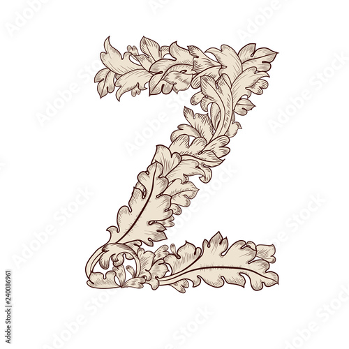 Fancy foliage uppercase letter Z | Buy Photos | AP Images | DetailView