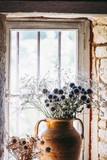 Bouquet de fleurs séchées, chardons