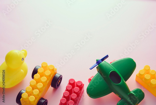 Border Of Colorful Plastic Kids Toys Buy Photos Ap Images