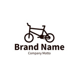 bike logo, modern outline brand design concept, vector illustration
