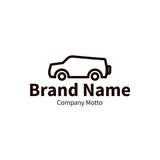 jeep logo, modern outline brand design concept, vector illustration
