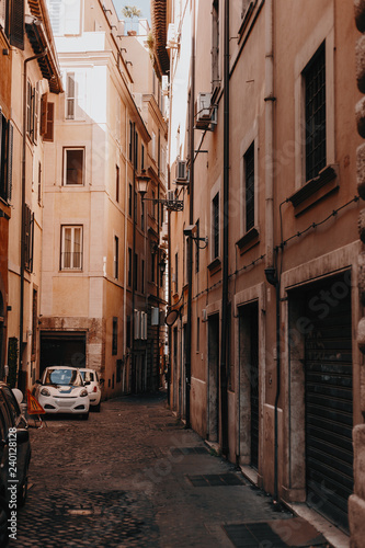 Streets, houses, and sights in Rome. Sunny summer footage from a trip to Italy - 240128128