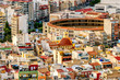 Leinwanddruck Bild - High angle view of the city of Alicante and famous bullfighting ring.