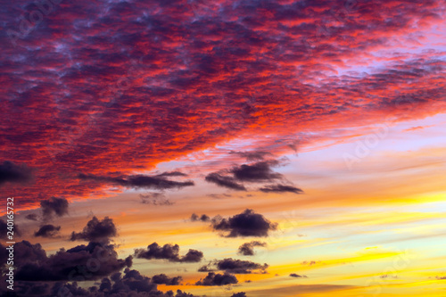 obraz lub plakat Colorful sunset (auto)