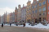 Pomorskie region, Poland - December, 2010: Dlugi Targ street, Gdansk city