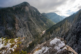 view of the Koscieliska Valley, Western Tatra Mountains, Tatra National Park, Poland