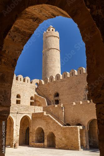 Ribat (fortress) inside medieval medina of Sousse, Tunisia - 240212385