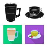 Isolated object of drink and bar symbol. Set of drink and party vector icon for stock.