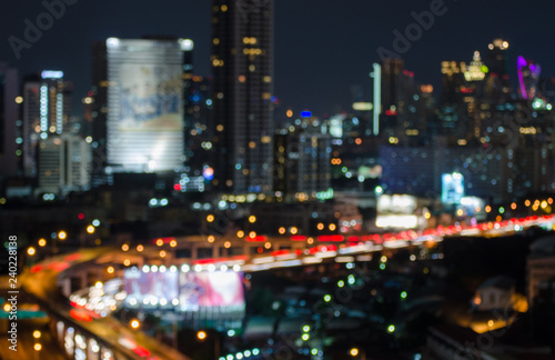 Out of focus Bangkok city - 240228138