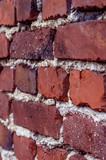 Backsteinmauer seitlich