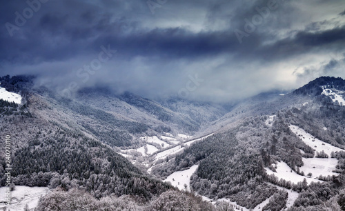 Foto Murales Mountains during winter