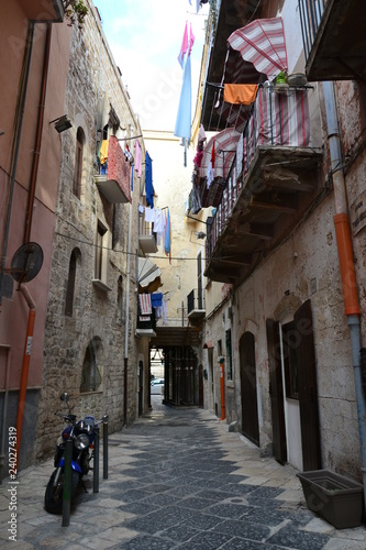 Buildings, monuments and streets of Bari - 240274319