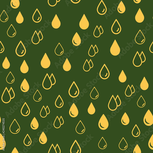 Rain Water Drops background Seamless vector EPS 10 pattern. Multicolor Figures. Texture for print and Banner - 240274535