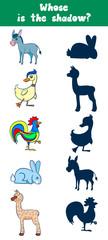 Game card for preschool children