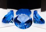 blue precious jeweler stone © serikbaib