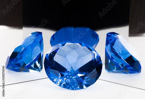 blue precious jeweler stone - 240276546