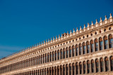 Basilica di San Marco in Venice, Italy against bright blue sky
