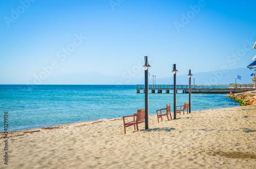 Beautiful Paralia Katerini beach, Greece