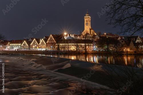 Leinwandbild Motiv Advent in Nürtingen am Neckar mit Weihnachtsbeleuchtung