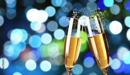 Leinwanddruck Bild Champagner zum Fest