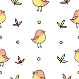pink birds children pattern